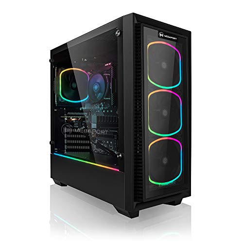 PC Gaming - Megaport Ordenador Gaming Intel Core i7-10700K • nvidia GeForce RTX 3060 12GB • 16GB 3000 DDR4 • 1TB M.2 SSD • Windows 10 • WiFi • PC Gamer • Ordenador de sobremesa