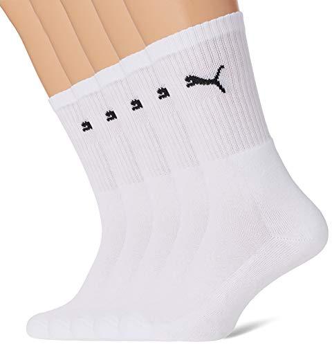 PUMA 7312 Sport Socks (5 Pack) Calcetines, blanco, 39-42 (Pack de 5) Unisex adulto