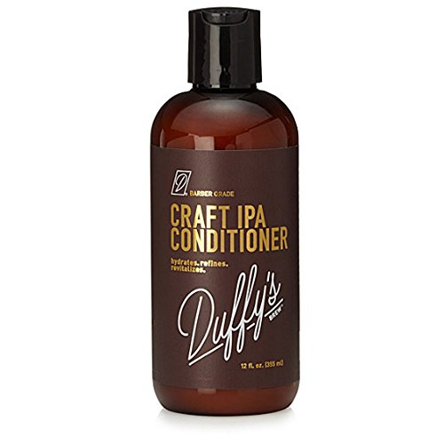 Duffy's Brew Craft Beer Conditioner - IPA Influenced + 12oz, Sulfate, Paraben & Phthalate Free. 100% Vegan. Moisturizes, Nourishes, Seals, Protects & Color Safe