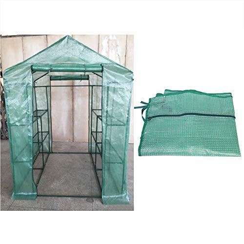 Asixx Foliengewächshaus Folienzelt, Pflanzenhaus Pflanzenabdeckung aus PVC Wasserdicht und Gegen UV-Strahlen für Pflanzen und Blumen (143 * 73 * 195cm)