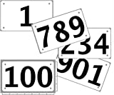 Race Numbers 1-100 Competitor tryout tyvek bib Numbers, Set of 100, (Any 100 from 1-1,000) 4'x7', Industry...