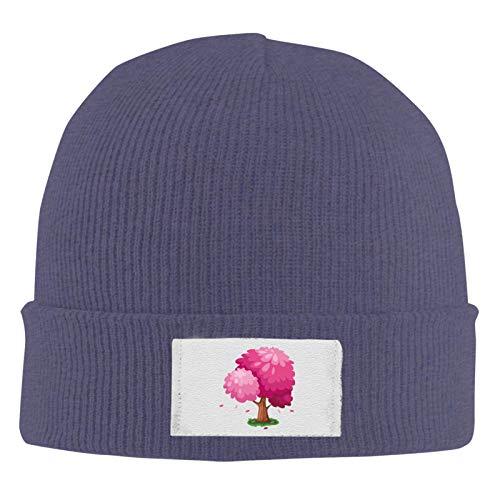 Lawenp Gorros de punto Beanie Gorro de calavera Lindo rbol de primavera rosa Sombrero clido de invierno para hombres y mujeres