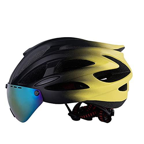 Casco de ciclismo con Bluetooth para carretera, casco de bicicleta, gafas magnéticas con Bluetooth inteligente integrado integrado, casco de seguridad transpirable para hombres y mujeres, para BMX, m