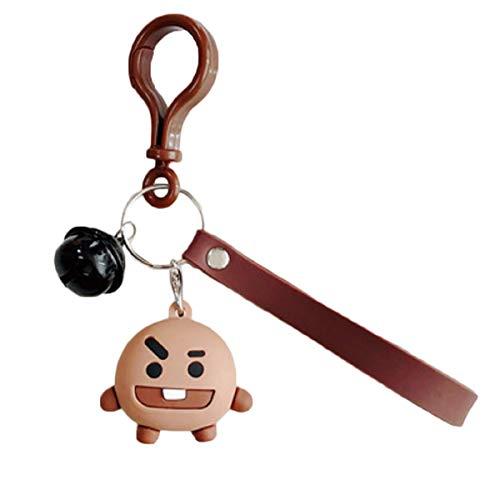 Wide.ling BT21 Offizielle BTS-Merchandise mit Linie Freunde - Charakter-Puppe-Schlüsselanhänger Nette Handtaschen Zubehör (entworfen von Bangtan Boys) Klein Shooky (Shooky)