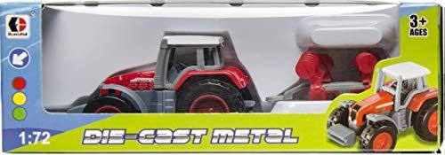 LG-Imports Tractor con remolque, 15 cm, color rojo