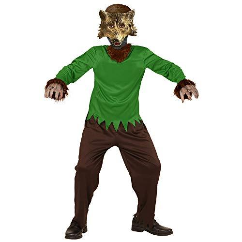 WIDMANN Disfraz de Hombre Lobo, Color marrón, M (00237)