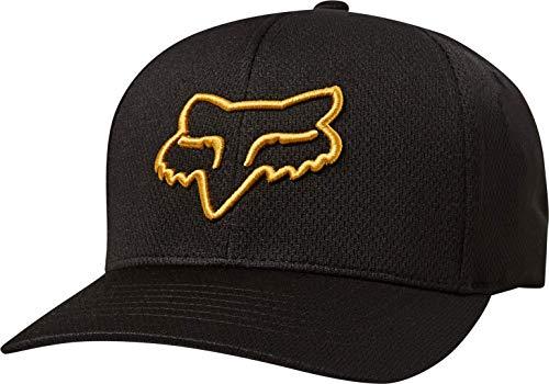 Fox Lithotype Flexfit Hat Black Yellow