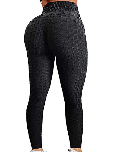 SEASUM Women's High Waist Yoga Pants Tummy Control Slimming Booty Leggings Workout Running Butt Lift Tights 2XL