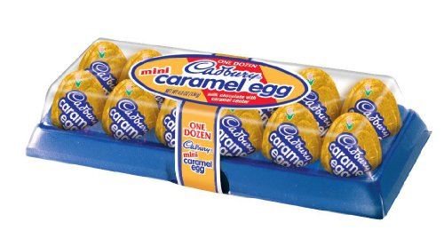 CADBURY Mini Caramel Egg Easter Candy, Milk Chocolate Egg Filled with Creamy Caramel, 12 Count - 4.8 Ounce Package (Pack of 4) by The Hershey Company