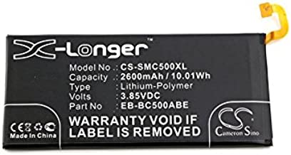 Cameron Sino 2600mAh Replacement Battery for Samsung Galaxy C5, Samsung Galaxy C5 Duos TD-LTE, Samsung SM-C5000, Samsung Galaxy C5 Pro Duos, Samsung Galaxy C5 Pro Duos TD-LTE with 7/pcs Toolskits