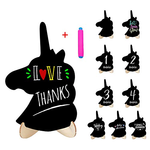 Mini Chalkboard Food Signs Small Black Board for Party Sign 10 Pack Rectangle Chalkboards with Stand,Food Name Card,Decorative Sign