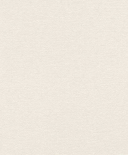 Rasch Tapeten Vliestapete (universell) Weiß 10,05 m x 0,53 m Tapetenwechsel 804546 Tapete, 10.05 0.53 m