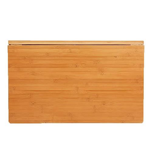 Mesa Abatible de Bambú Natural de Pared, Escritorio Plegable de Cocina y Mesa de Comedor, 40/45/55cm Ancho (Size : 60X40cm/23.6'X15.7')