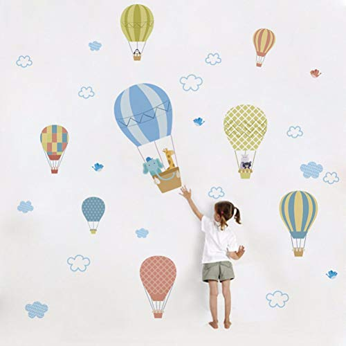 TAOYUE Cartoon hete lucht ballon vliegen in de lucht muur Stickers voor kwekerij Kids kamer slaapkamer muur Decor DIY muurstickers