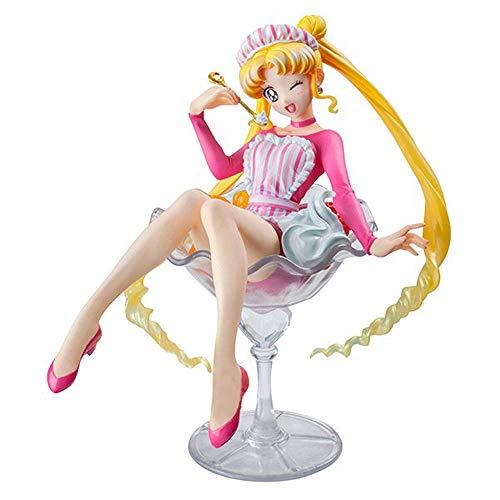 ZDYHBFE Hübscher Soldat Sailor Moon Anime Limited Mond Hase Obst Buffy EIS Creme Figur Hohe Qualität Version Statue Puppe Skulptur Spielzeug Dekoration Modell Höhe 12 cm