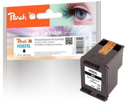 Peach Druckkopf schwarz kompatibel zu HP No. 302XL bk, F6U68A