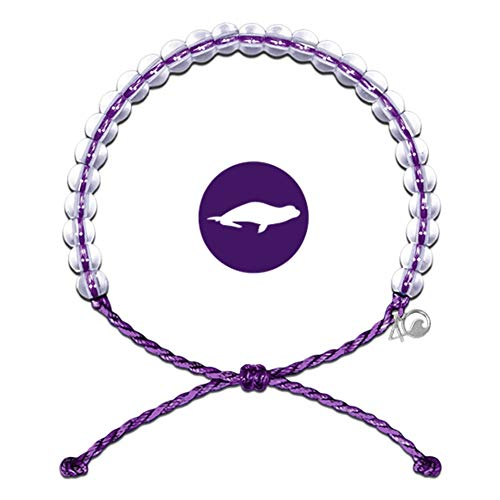4Ocean Bracelet with Charm Made from 100% Recycled Material Upcycled Jewelry (Purple)
