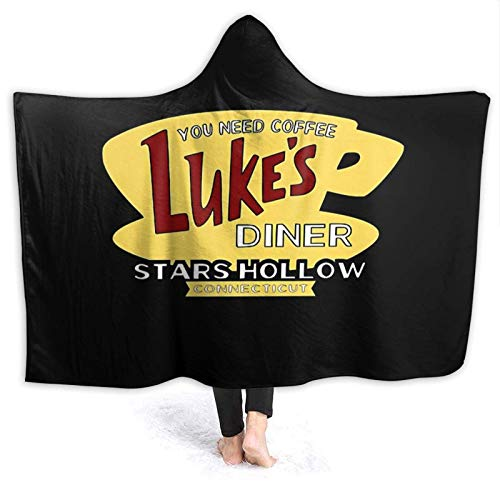 XCNGG Manta con Capucha Hooded Blanket Throw Luke's Diner Super Soft Sherpa...