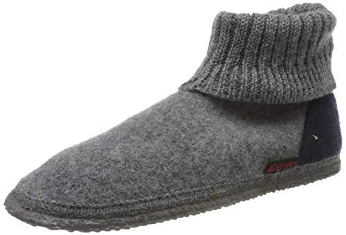 GIESSWEIN Hüttenschuhe Kramsach - Warme Hausschuhe für Damen & Herren | rutschfeste Pantoffeln | Hohe Filzhausschuhe | Geschlossene Puschen mit Strickstulpe