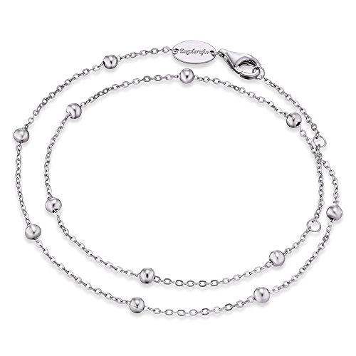 Engelsrufer Damen Armband Little Moon 925er-Sterlingsilber rhodiniert Länge 16cm + 2 cm