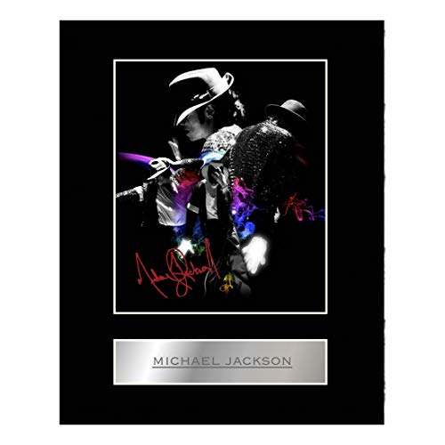 Michael Jackson firmada foto enmarcada