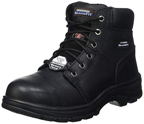 Skechers Workshire, Stivaletto Uomo, Black, 29 EU