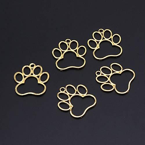 feichang 5 colgantes para huellas de perro y mascota, marco vacío, apertura abierta, ajuste UV,...