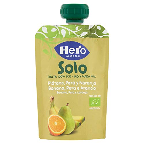 HERO Baby pera, plátano y naranja 100% ecológico - 100 gr (BIO)