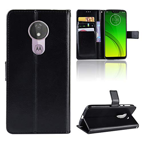 LODROC Leather Wallet Case for Moto G7 Power, [Kickstand Feature] Luxury PU Leather Wallet Case Flip Folio Cover with [Card Slots] and [Note Pockets] for Motorola Moto G7Power - LOBYU0300857 Black