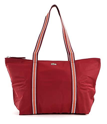 Lacoste Nf3618ya, bolsa de compras para mujer, talla única, Rojo (granate), Talla única