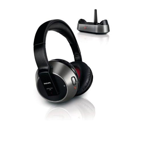 Philips SHC8535 - Auriculares de diadema cerrados inalámbricos , negro