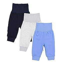 TupTam Baby Jungen Lange Pumphose 3er Pack, Farbe: Farbenmix 1, Größe: 92