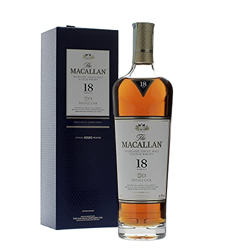 The Macallan 18 Years Old DOUBLE CASK Highland Single Malt Scotch Whisky 2020 43% Volume 0,7l in Geschenkbox Whisky