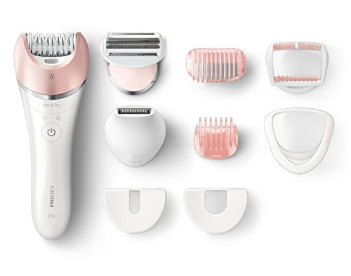 Philips Satinelle Advanced - Depiladora (Metálico, Blanco, 32 pinzas, 17 discos, Integrado, Ión de litio, 1,5 h)