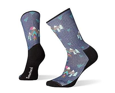 Smartwool Hiking Crew Socks - Women's Under the Stars Print, Lightly Cushioned Wool Performance Sock Medium Dark Blue Steel