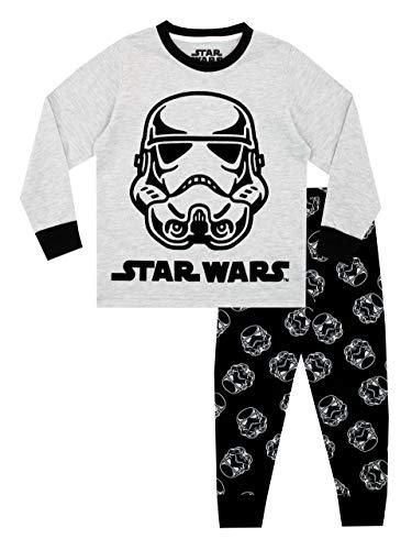 Star Wars Pijamas de Manga Larga para niños Negro 4-5 Años
