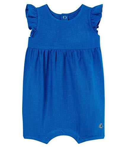 Petit Bateau Bailey Grenouillère, Bleu (Riyadh 01), 86 (Taille Fabricant: 24M) Bébé Fille