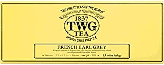 TWG Singapore - Luxury Teas - French Earl Grey - 3 x 15 Hand sewn pure cotton tea bags (45 count)