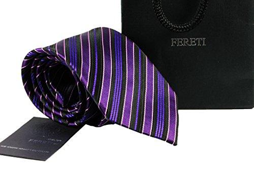 FERETI cravate violette homme FABRIQUÉ À LA MAIN