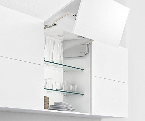 Gedotec Frontliftbeschlag Küche Klappenbeschlag FREE UP für einteilige Klappen aus Holz | Liftbeschlag für Korpushöhe 345-420 mm | Klappengewicht: 7,4-14 kg | 1 Garnitur
