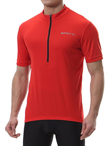 Spotti Men's Basic Short Sleeve Cycling Jersey -...