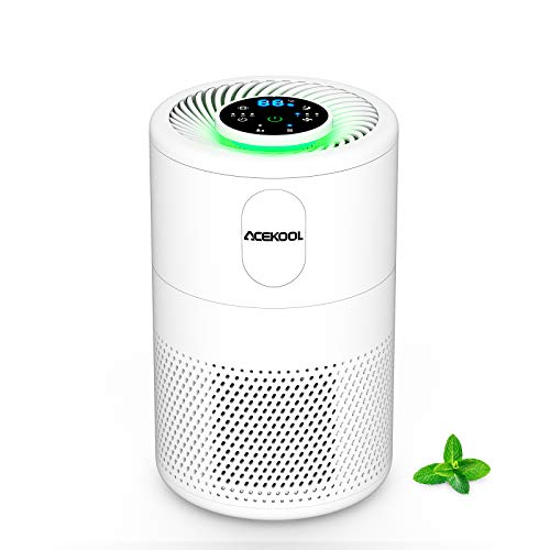 Acekool Air Purifier for Home with H13 True HEPA Filter, Smart Mode, CADR 150 m³/h, 3 Speeds, 25dB Sleep Mode & Filter Change Reminder, Air Cleaner Ionizer for Dust Allergies Smoke Pet Dander, B-D02F