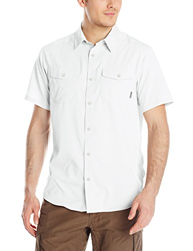 Columbia Sportswear Men's Utilizer II Solid Short Sleeve Shirt, White, X-Large