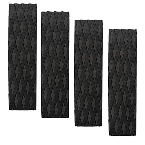 Surfboard Traction Pads, 4Pieces Black Surfing Front Traction Anti-Slip Pad for Surfboards, Skimboards, Shortboards, Longboards and Kayak