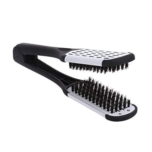 ROSENICE Alisado del cabello Peine herramientas de peinado Cerda de jabalí Pinza de peine de cepillo de doble cara