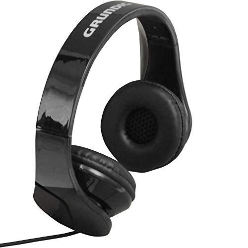 Multistore 2002 Stereo Kopfhörer mit Mikrofon, 20Hz-20.000Hz, klappbar, Stereokopfhörer für Handy Smartphone Tablet, Farbe:Schwarz
