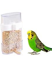 Balacoo Thicker Bird Cage Water Bottle Dispenser Feeder Taza de alimentación automática para Bird Finch Canary Budgie Cockatiel 220 ml