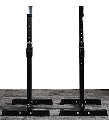 Byakns Inicio o Banco Comercial Presione Levantamiento de pesas Bedbarbell Soporte en cuclillas, Tipo Split Elevación de pesas Rack Multifuncional Squat Rack 8-Gear H Ajuste Barbell Semi-marco para De