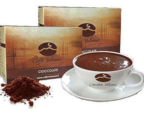 Caffè Vulcanus - Cioccolata calda in 12 gusti - confezione da 24 bustine da 30 gr. Non contiene glutine, no OGM e senza grassi idrogenati