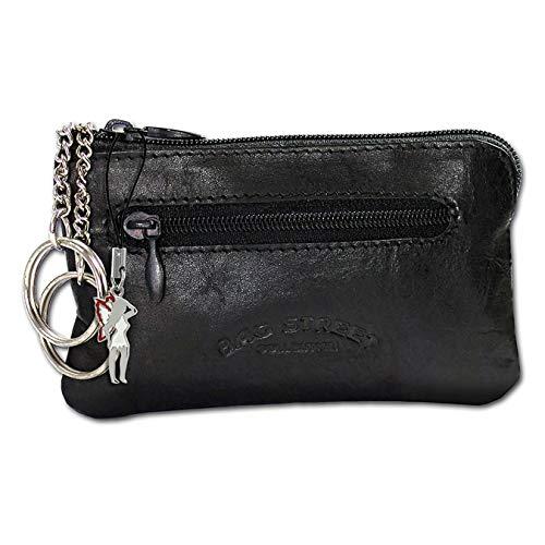 SilberDream DrachenLeder Schlüsseltasche Etui Geldbörse schwarz Leder 10x0.5x6cm OPJ900S Leder Schlüsseltasche